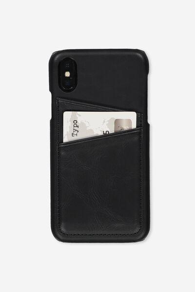 Cardholder Phone Case iPhone X, Xs, BLACK