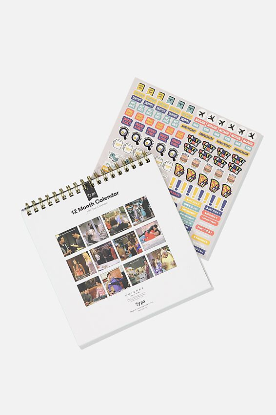 2020 Friends Get A Date Flip Desk Calendar, LCN WB FRIENDS