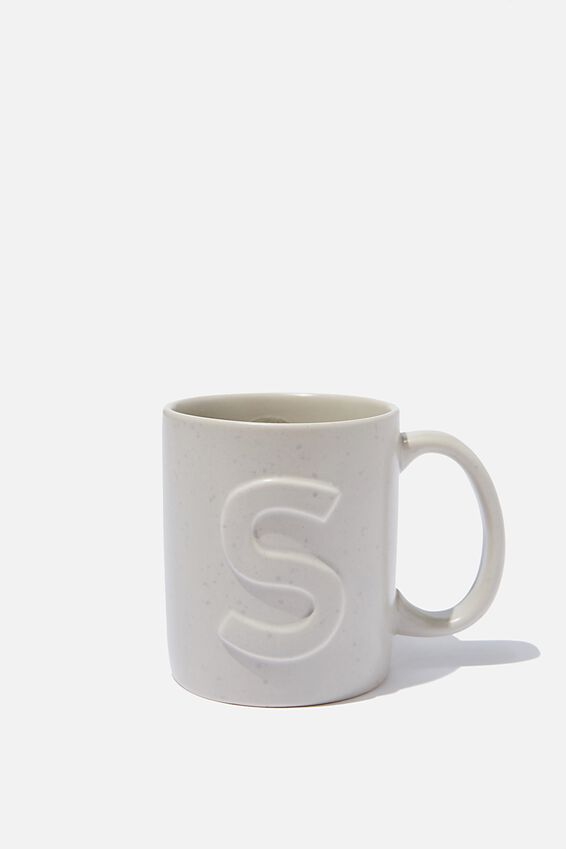Alphabet Anytime Mug, SPECKLED S