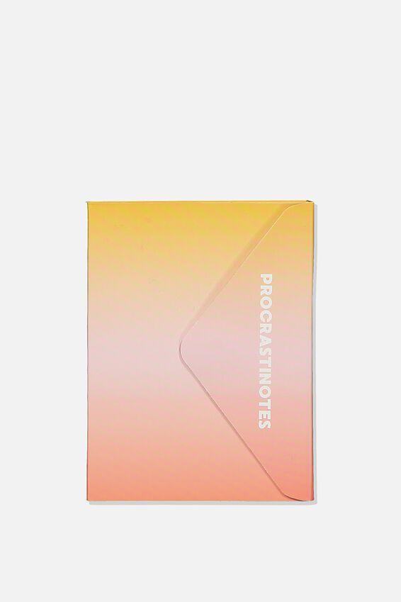 Pocket Sticky Note Set, PINK & YELLOW