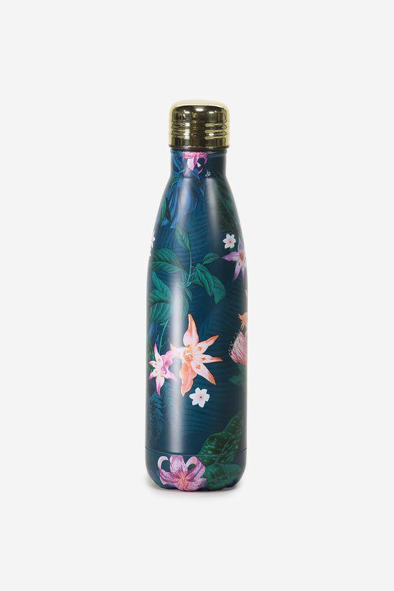 Metal Drink Bottle, JUNGLE FLORAL