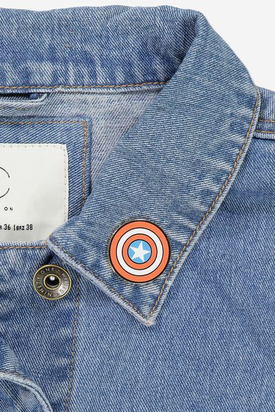 Lcn Enamel Badges, LCN MARVEL CAPTAIN AMERICAS SHI
