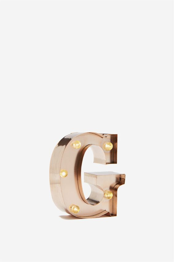 Mini Marquee Letter Lights 10cm, ROSE GOLD G