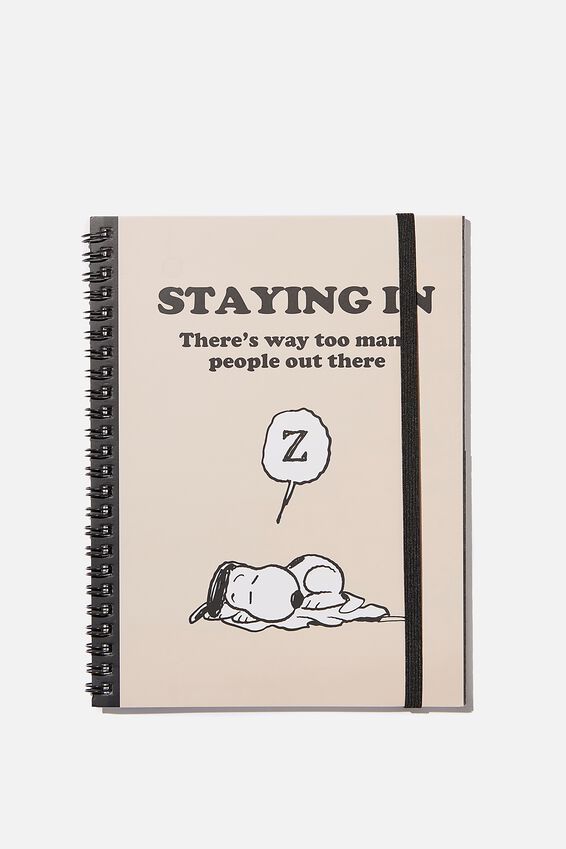 A5 Snoopy Spinout Notebook Recycled, LCN PEA STAYING IN