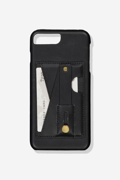 Cardholder Grip Case Iphone 6, 7, 8 Plus, BLACK