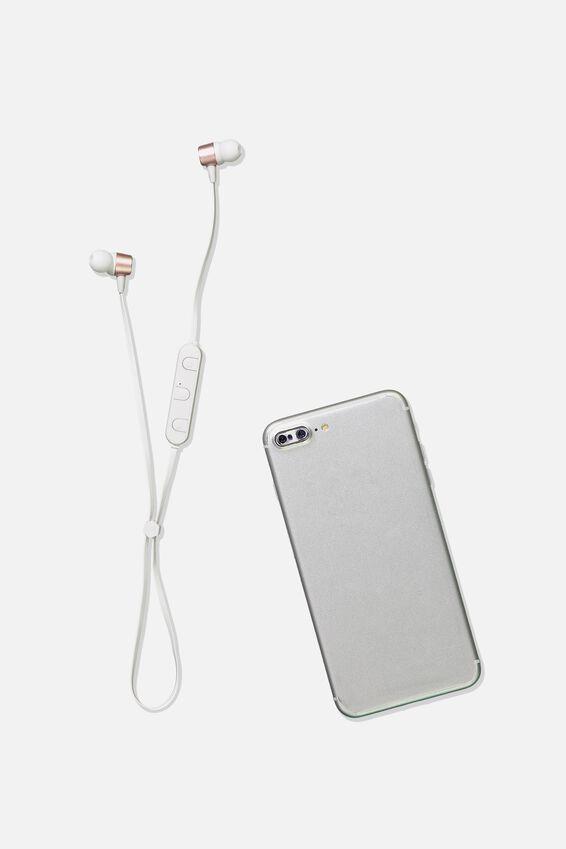 Active Wireless Earphones, ROSE GOLD & WHITE