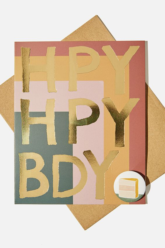 Premium Badge Card, HPY BDY CAKE BADGE
