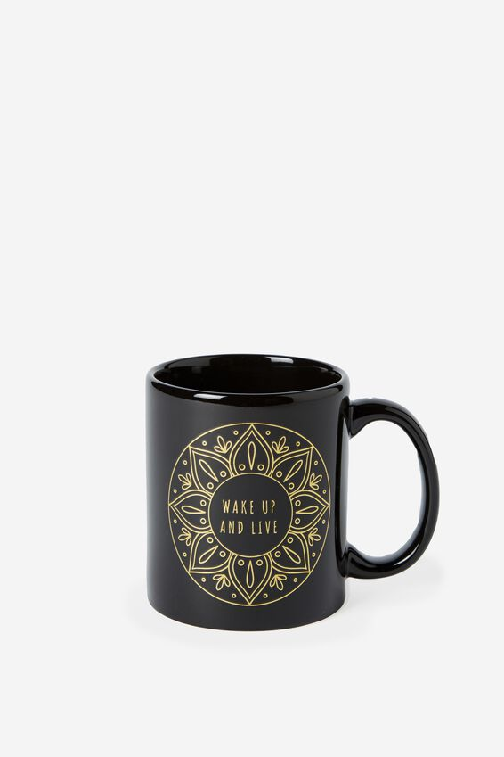 Anytime Mug, BLACK WAKE UP & LIVE