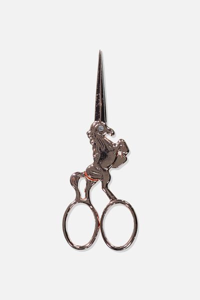 Metal Scissors, ROSE GOLD UNICORN