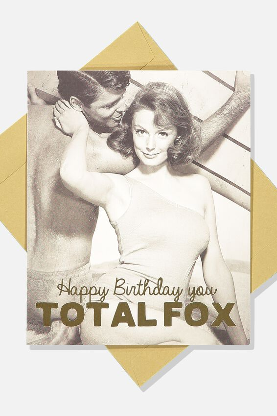 Funny Birthday Card, TOTAL FOX