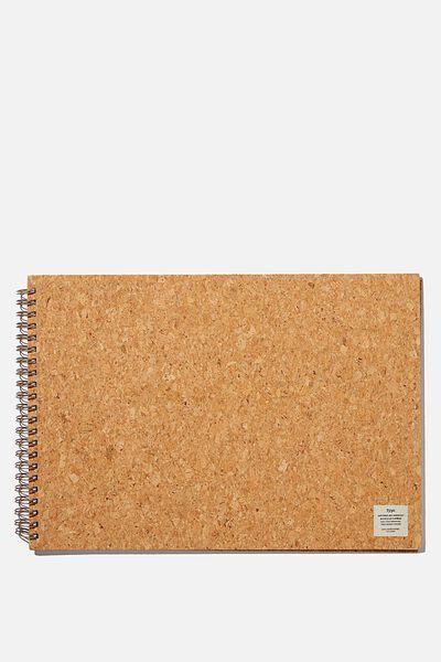 A3 Spiral Sketch Book, NATURAL CORK