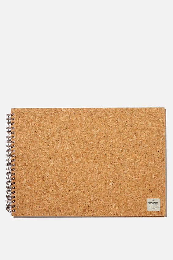 A3 Spiral Sketch Book, NATURAL CORK