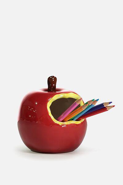 Pen Holder, RED APPLE
