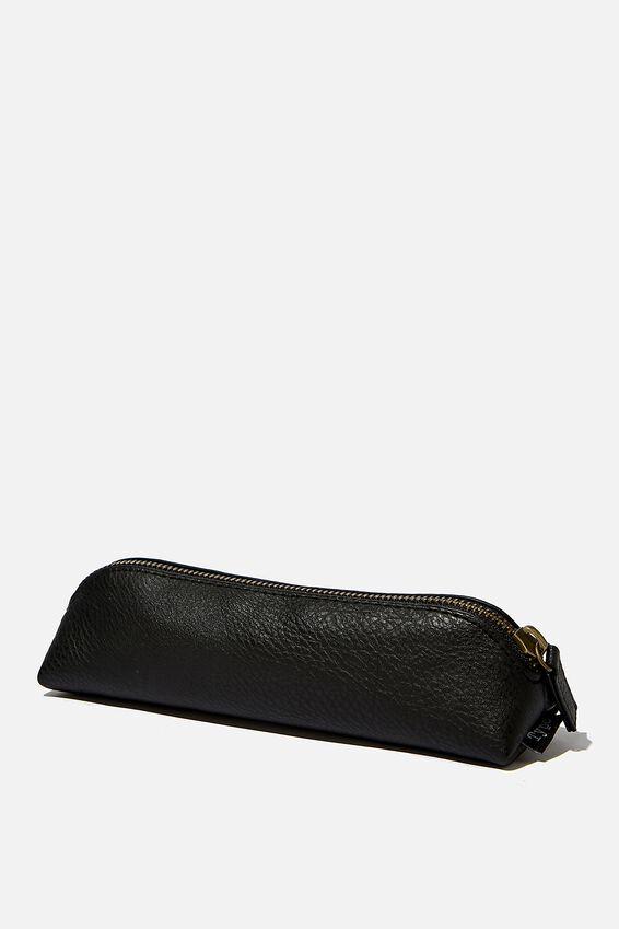 Buffalo Barrel Pencil Case, BLACK