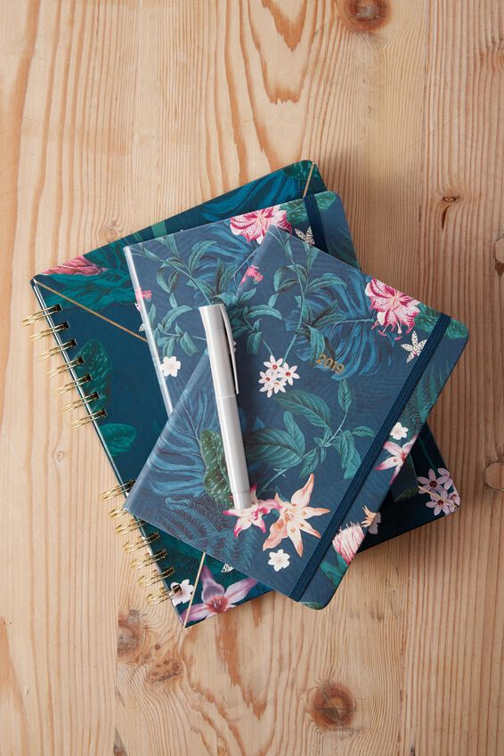2019 A5 Weekly Buffalo Diary, JUNGLE FLORAL