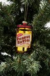 Glass Christmas Ornament, PEANUT BUTTER