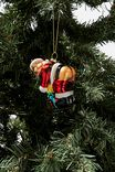 Glass Christmas Ornament, GLASS SANTA BUM!