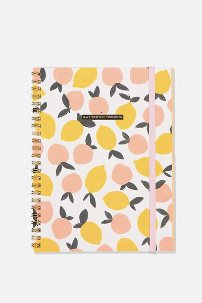 A5 Spinout Notebook Recycled, POSITIVE THOUGHTS