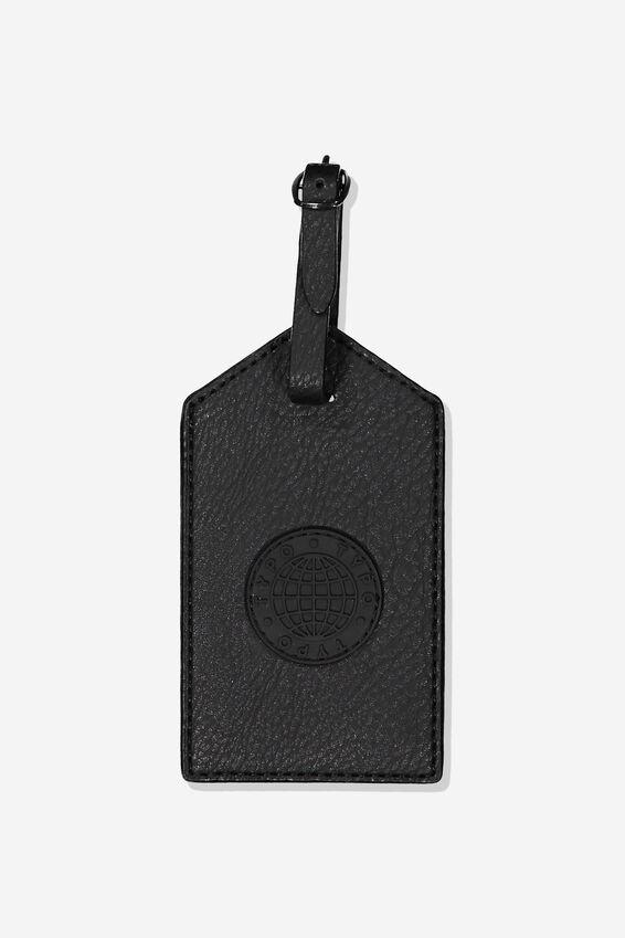 Luggage Tag, BLACK GLOBE