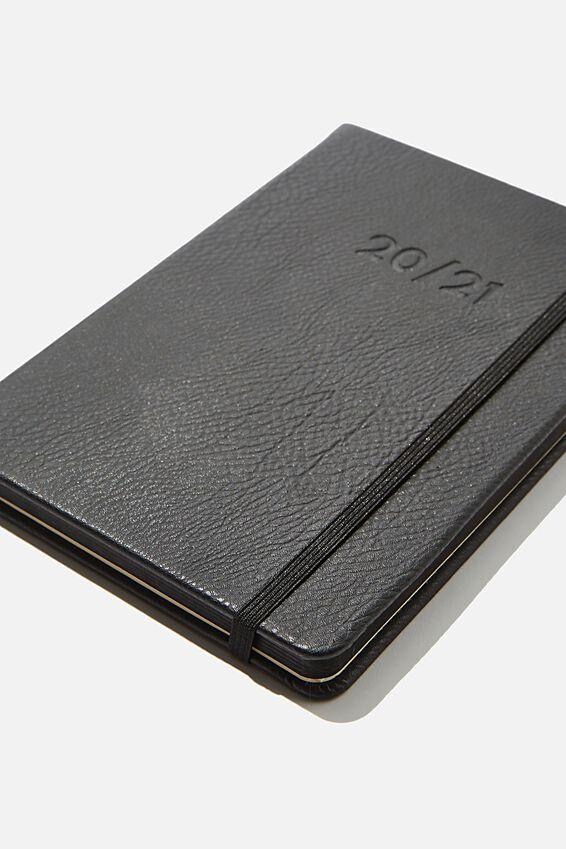 2020 21 A5 Weekly Buffalo Diary, BLACK