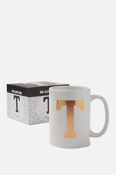 Big Alphabet Mug, ROSE GOLD T