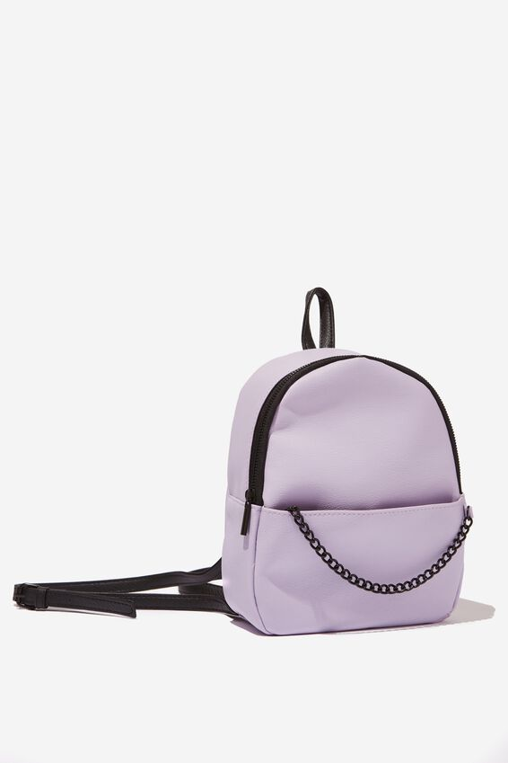 Mini Cairo Backpack, LILAC WITH CHAIN