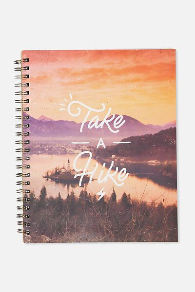 A4 Campus Notebook, TAKE A HIKE SUNSET