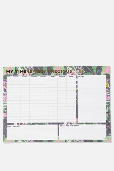 A3 Plan Ahead Planner, RESORT FLORAL