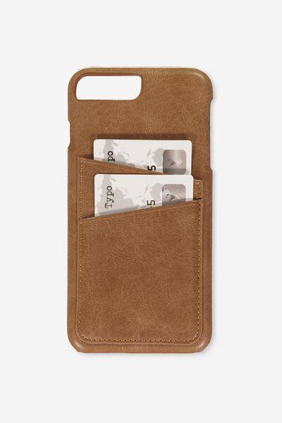 The Cardholder Phone Cover 6,7,8 Plus, TAN PU