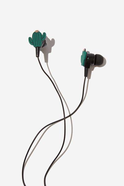 Novelty Earphones, CACTUS