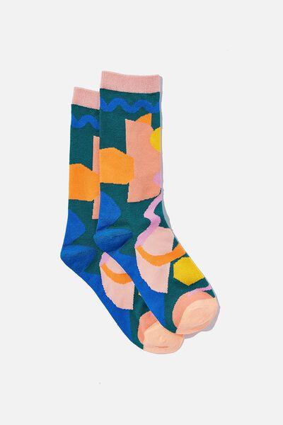 Socks, COLOURED SHAPES