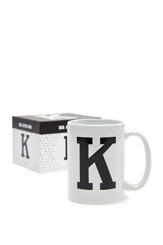 Big Alphabet Mug, BLACK K