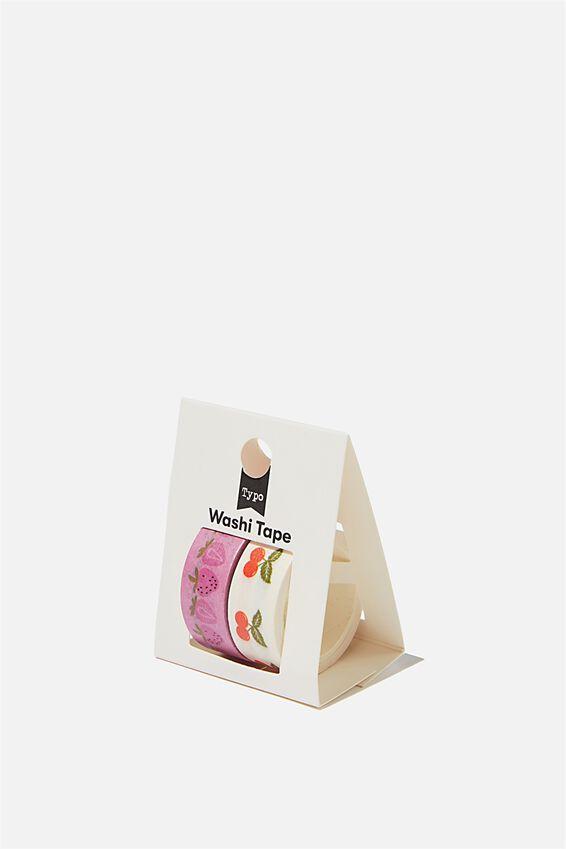 Washi Tape 2Pk, FRUITY