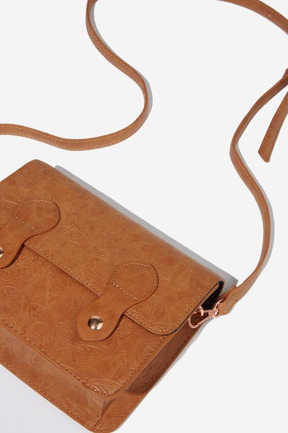 Mini Buffalo Satchel Bag, BUTTERFLY TOOLED