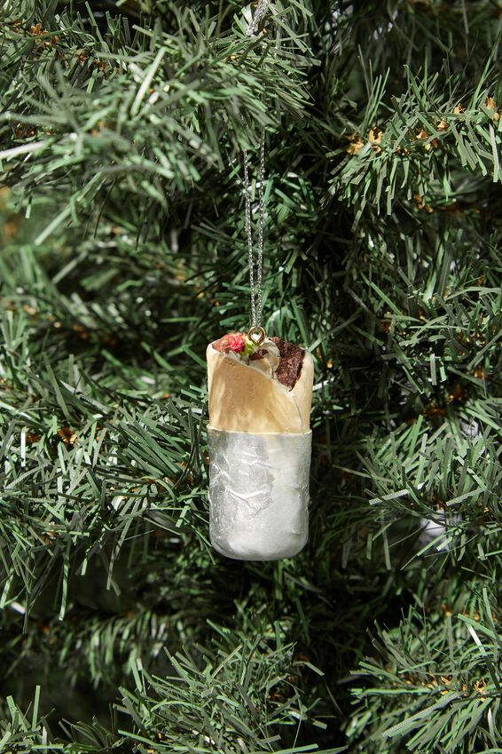 Resin Christmas Ornament, BURRITO