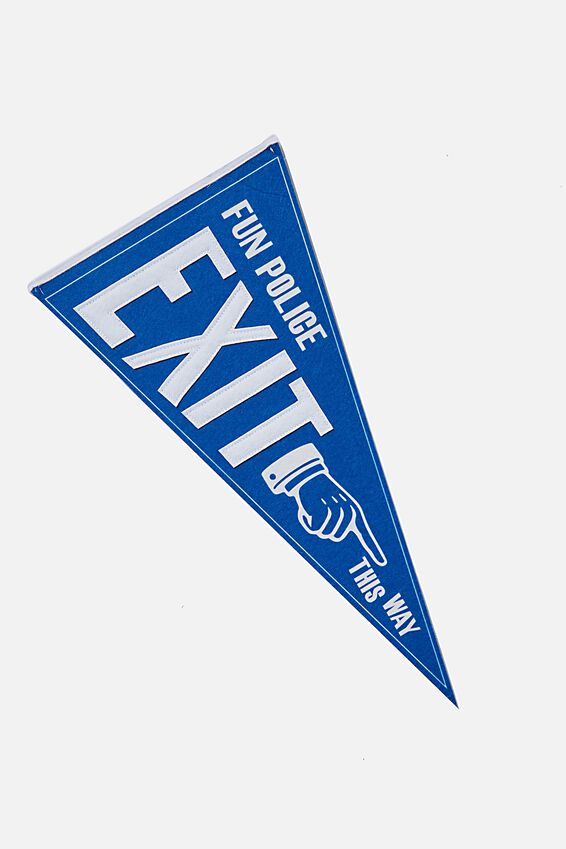 Pennant Wall Flag, FUN POLICE