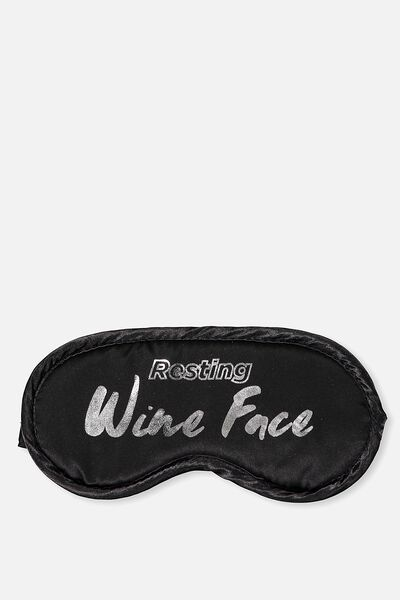 Premium Sleep Eye Mask, BLACK WINE!