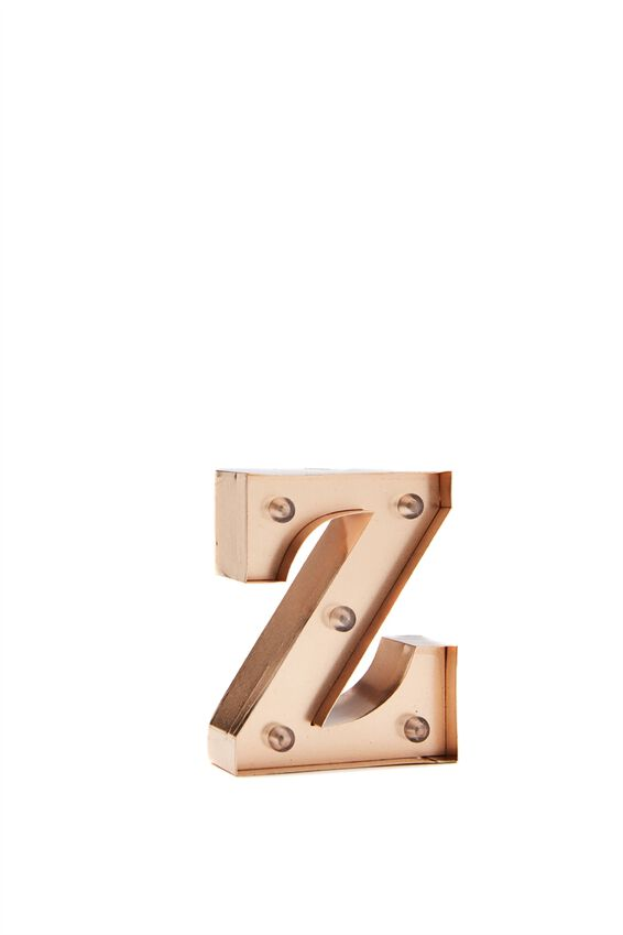 Mini Marquee Letter Lights 10cm, ROSE GOLD Z