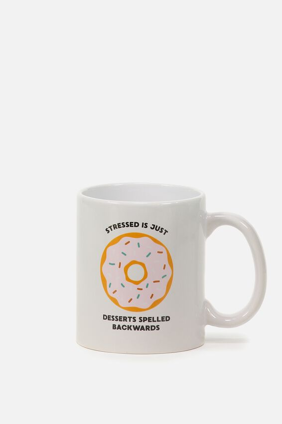 Anytime Mug, STRESSED DONUT