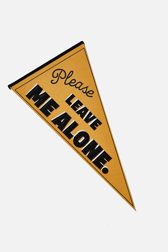 Pennant Wall Flag, PLEASE LEAVE ME ALONE