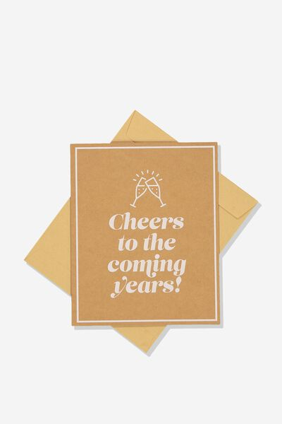 Wedding Card, CHEERS TO THE YEARS!