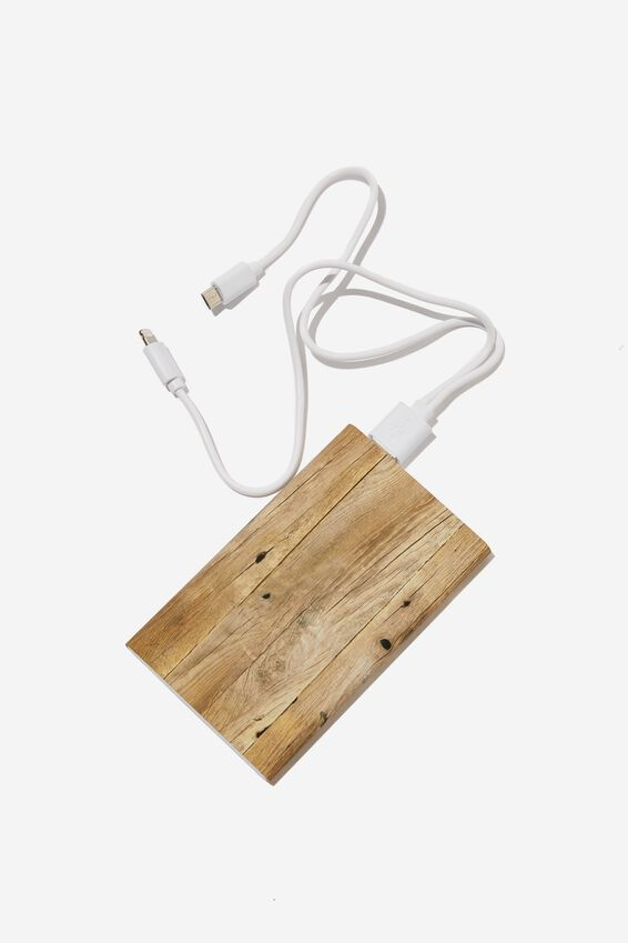 Printed Charge It Charger, WILD WEST WOODGRAIN
