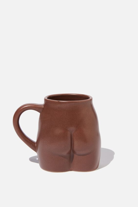 Novelty Shaped Mug, SQUARE BUTT!