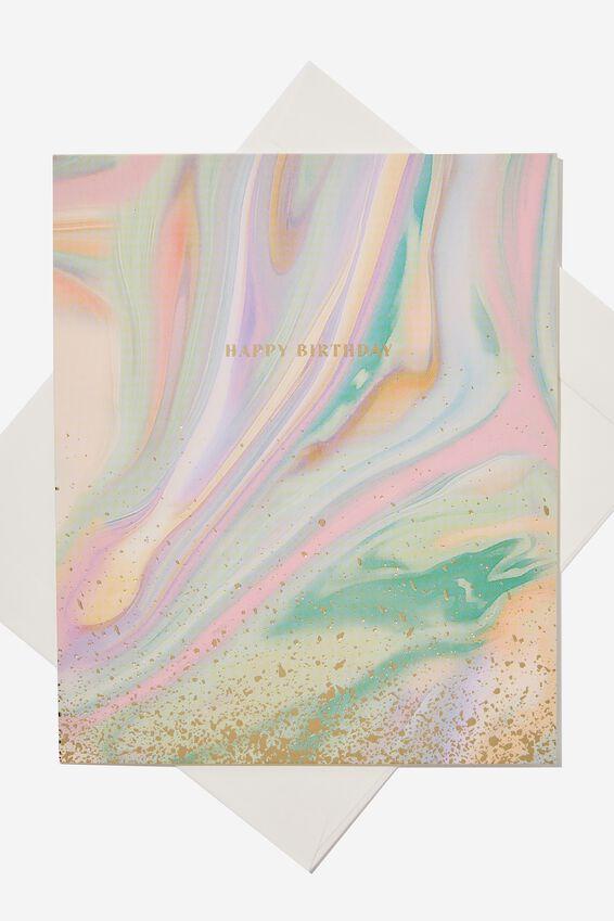 Nice Birthday Card, GELATI MARBLE BIRTHDAY