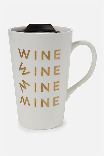 Nomad Travel Mug, WINE!