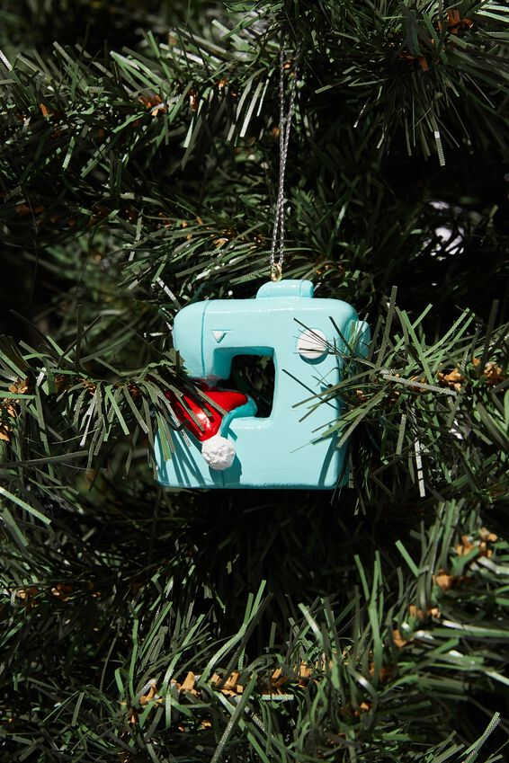 Resin Christmas Ornament, SEWING MACHINE