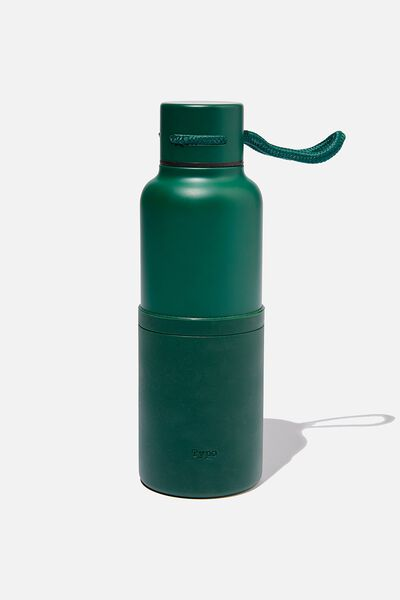 The Loop Metal Drink Bottle, DEEP GREEN