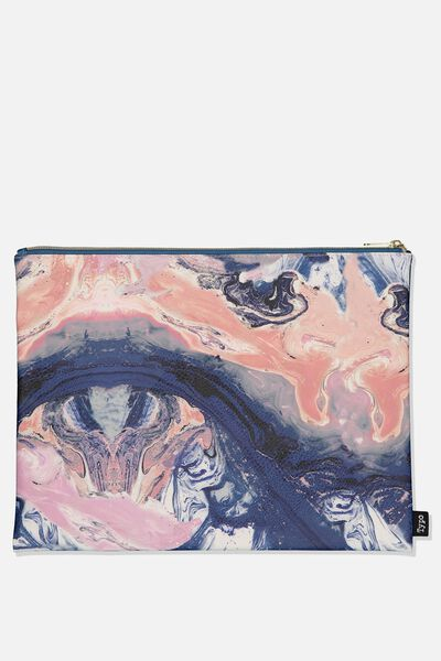 Pu Document Wallet, MOODY MARBLE