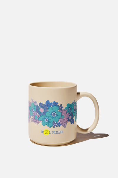 Daily Mug, BITCH PLEASE FLORAL BLUES!