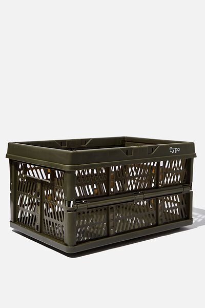 Large Foldable Storage Crate, KHAKI